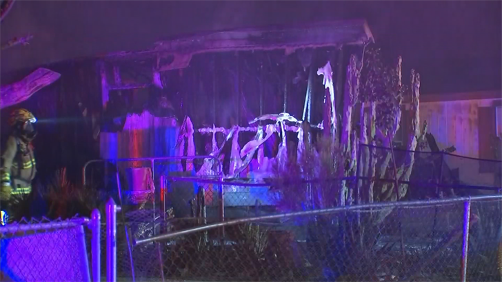 The mobile home was a complete loss. (Source: 3TV/CBS 5)