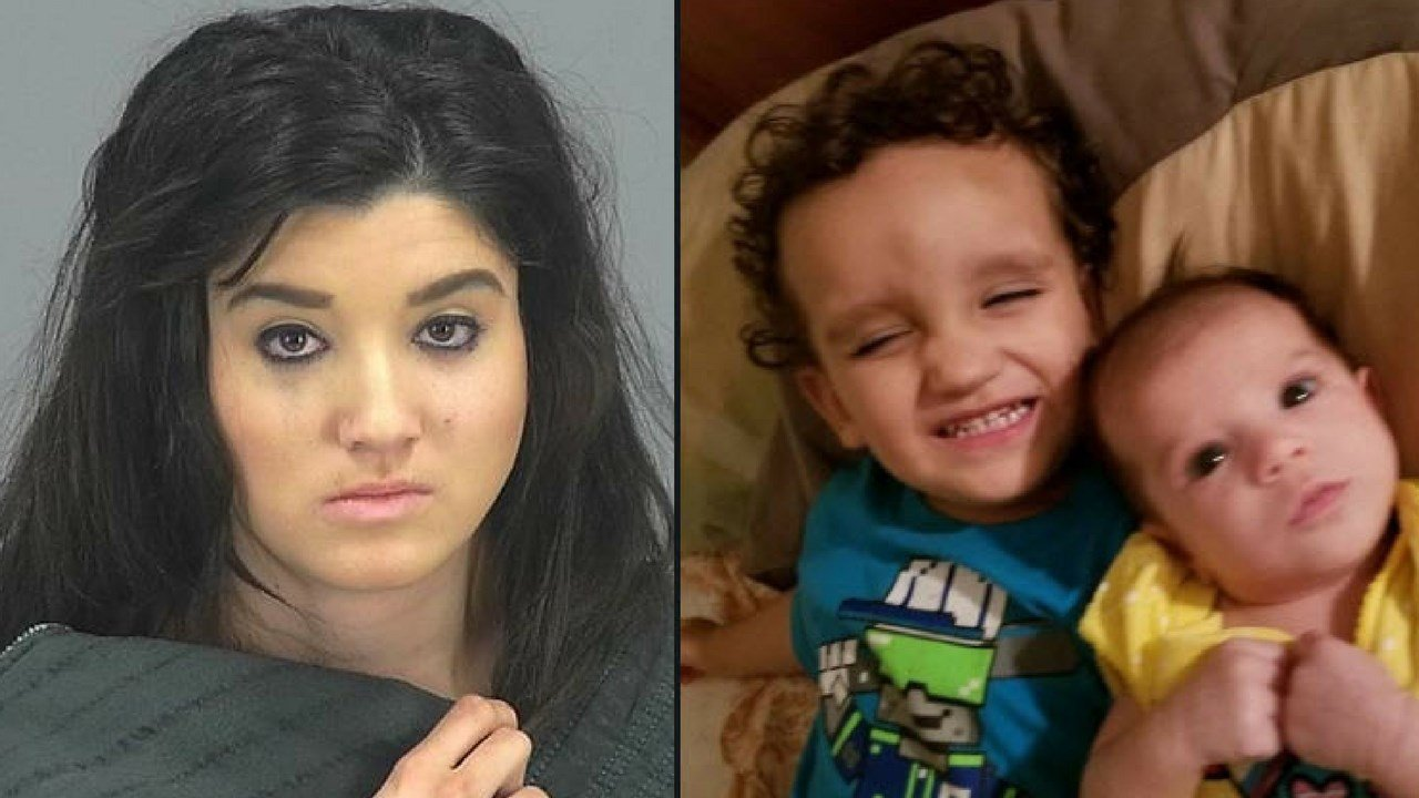 Authorities say that 20-year-old Brittany Velasquez, the mother of the two children, was arrested and is being charged with two counts of murder. (Source: PCSO, 3TV/CBS 5)