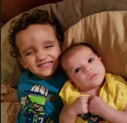 Christopher was 2 years old and Brooklyn was 10 months old. (Source: Amber Velasquez)