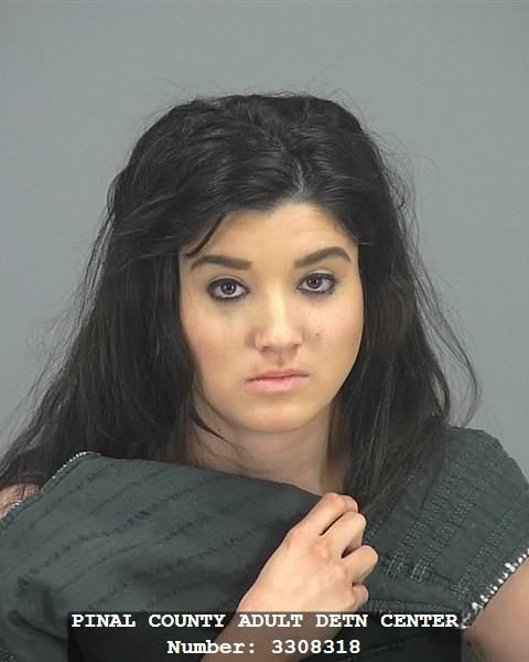 Mugshot of Brittany Velasquez, 20. (Source: Pinal County Sheriff's Office)