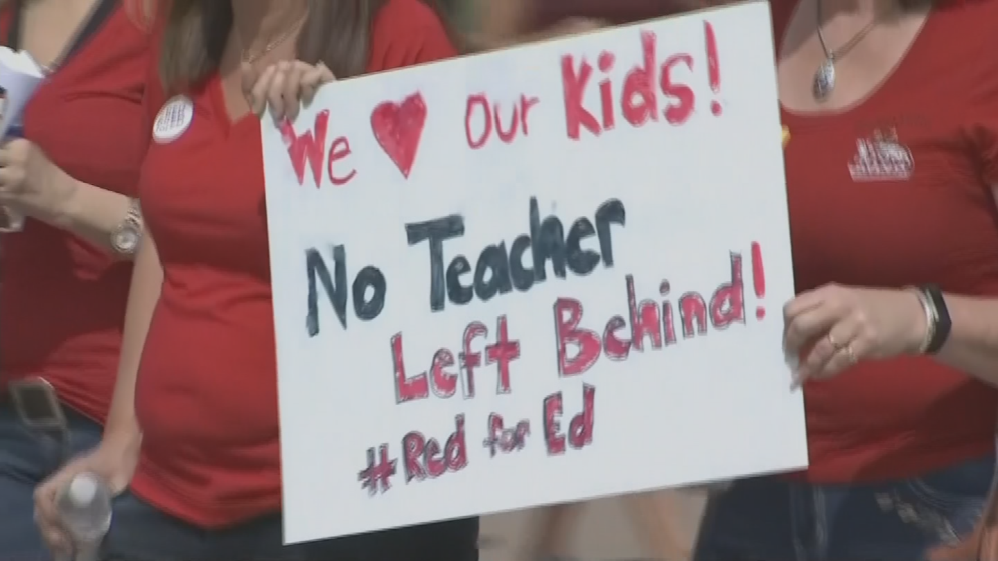 Thousands of teachers are expected to protest at the state capitol, where organizers plan to lay out their demands directly to lawmakers. (Source: 3TV/CBS 5)