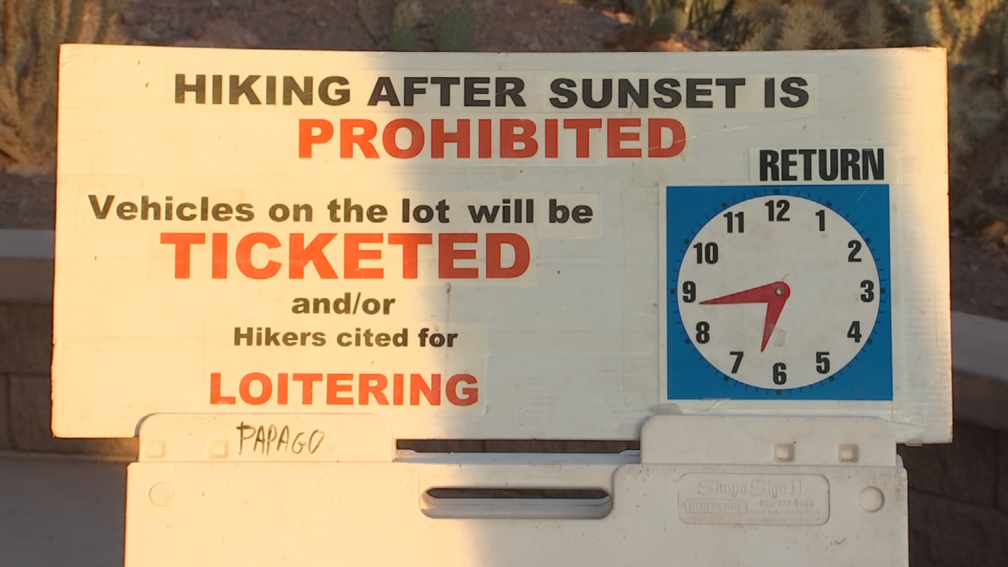 On most trailers, hiking is banned at night. (Source: 3TV/CBS 5)