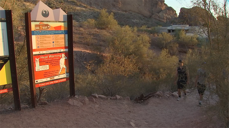 The hours and hike risk are clearly marked at the start of each trail. (Source: 3TV/CBS 5)