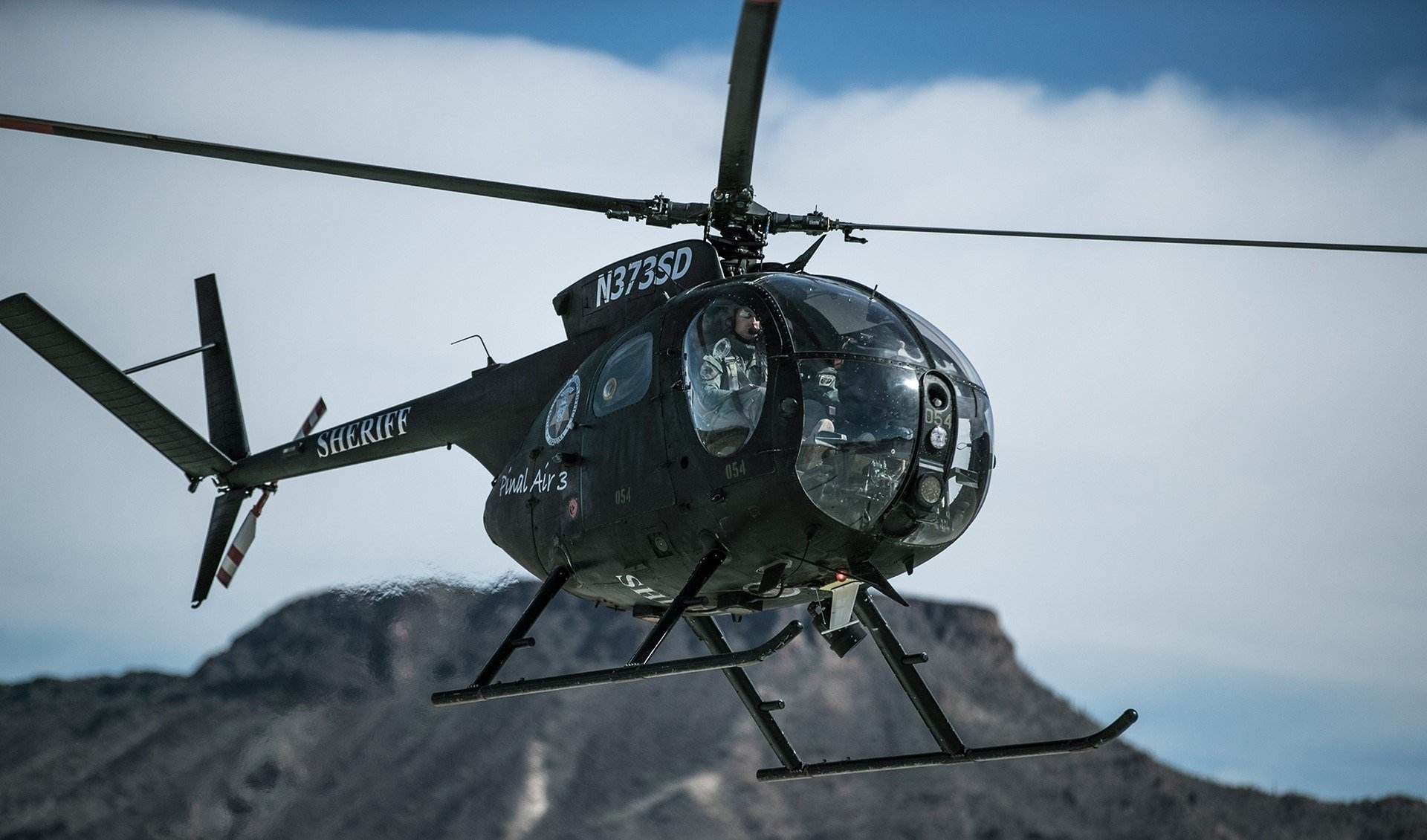 Operation Western Eagle pairs Pinal County Sheriff's Office aviation assets with Tucson Sector Border Patrol agents in an effort to disrupt and degrade illicit activity and make Arizona border communities safer. (Source: U.S. CBP)