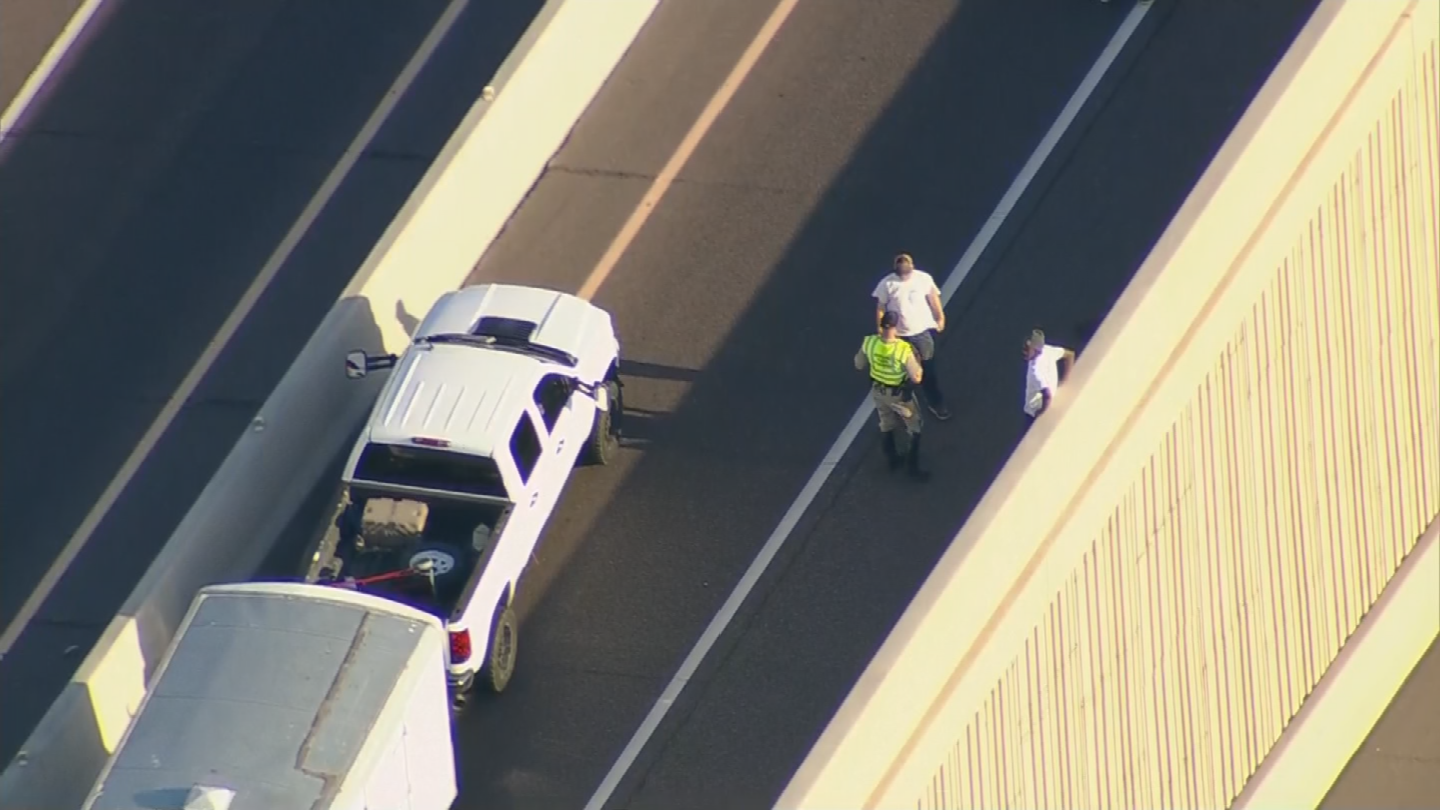 Both HOV ramps from Interstate 10 to U.S. 60 were closed while troopers investigated the scene. (Source: 3TV/CBS 5)