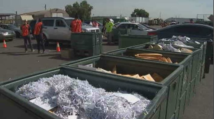 CBS 5, MCAO and International Paper shredded about 210 tons of paper for Arizona's Family at last year's event. (Source: 3TV/CBS 5)