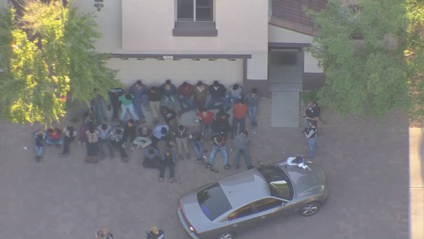Investigators said a tip let them to a suspected drop house in south Phoenix. (Source: 3TV/CBS 5)