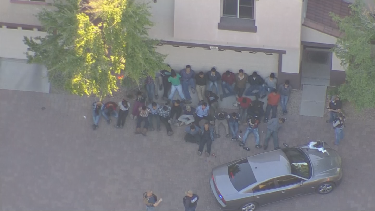 The group included 27 Guatemalans, five Mexicans and two Hondurans, according to a statement from the agency. (Source: 3TV/CBS 5)