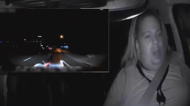 """The governor suspended the company's testing privileges Monday, citing safety concerns and """"disturbing"""" dashcam footage of the March 18 crash in Tempe crash that killed a pedestrian. (Source: Tempe Police Department)"""