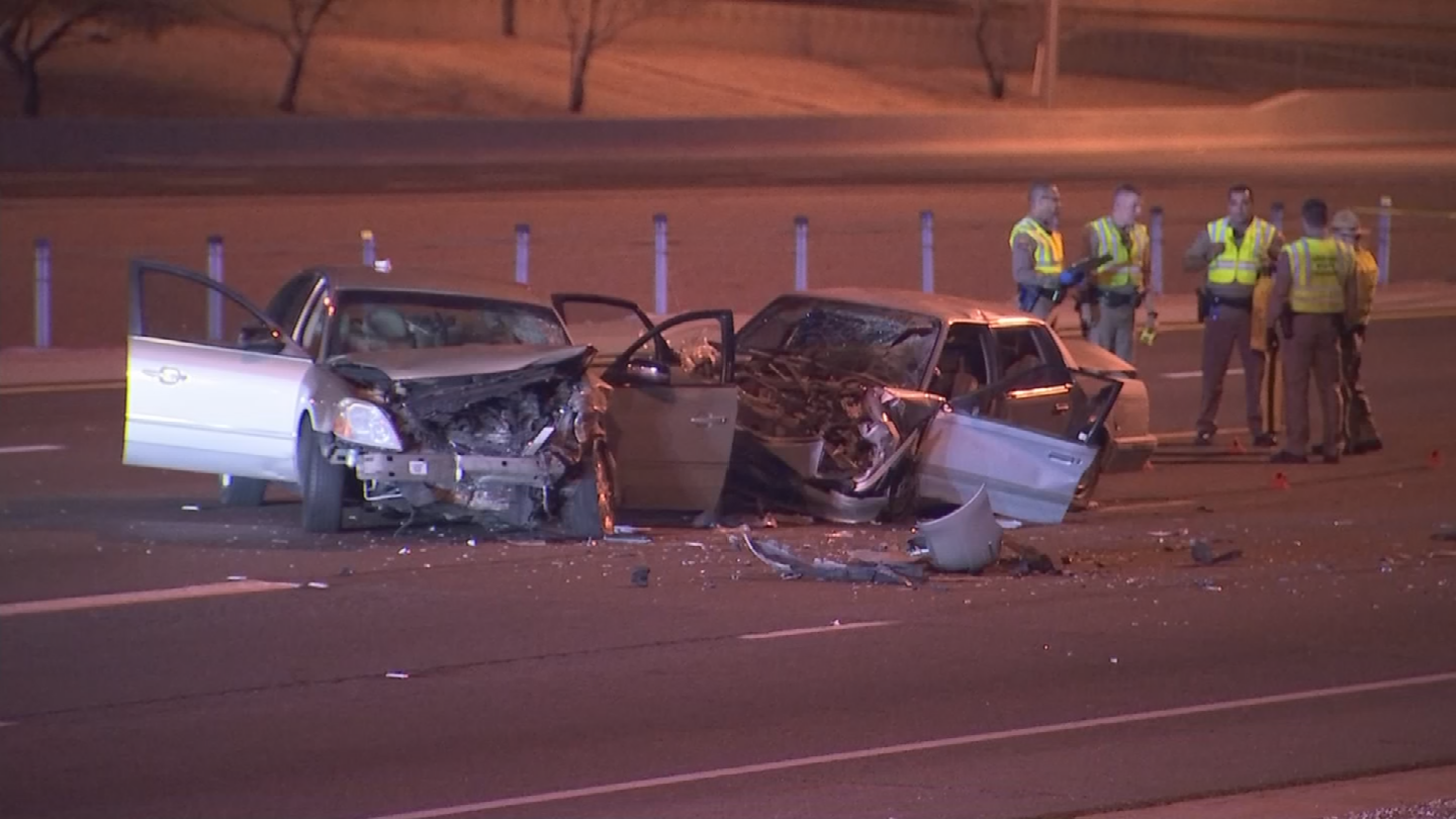 A wrong-way driver told the fire department he took illicit drugs before crashing and injuring three others in east Mesa, according to the Arizona Department of Public Safety. (Source: 3TV/CBS 5)