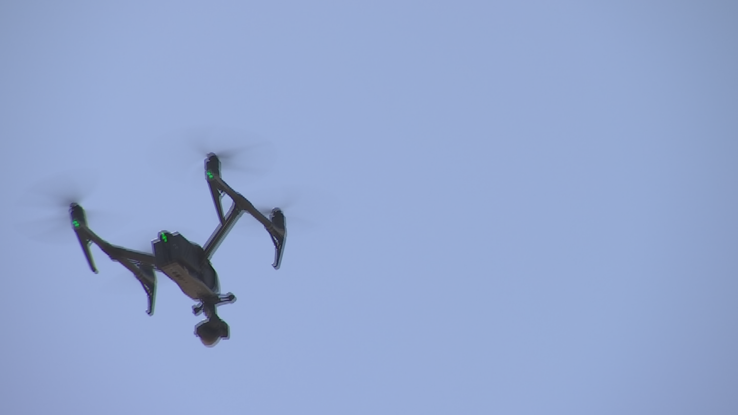 Thedrones are equipped with high resolution and infrared cameras that can see what crews can't. (Source: 3TV/CBS 5)