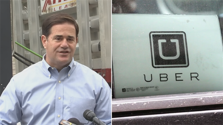 Gov. Doug Ducey reiterated on Thursday his support for the self-driving vehicles as a way to make roads and highways safer. (Source: 3TV/CBS 5/AP)