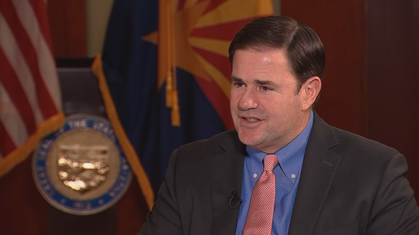 Ducey said since he took office in 2015, there's 9 percent more dollars available for teachers' pay. (Source: 3TV/CBS 5)