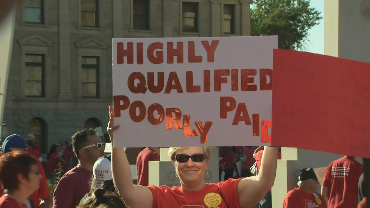 Arizona teachers are among the lowest paid in the nation. (Source: 3TV/CBS 5)