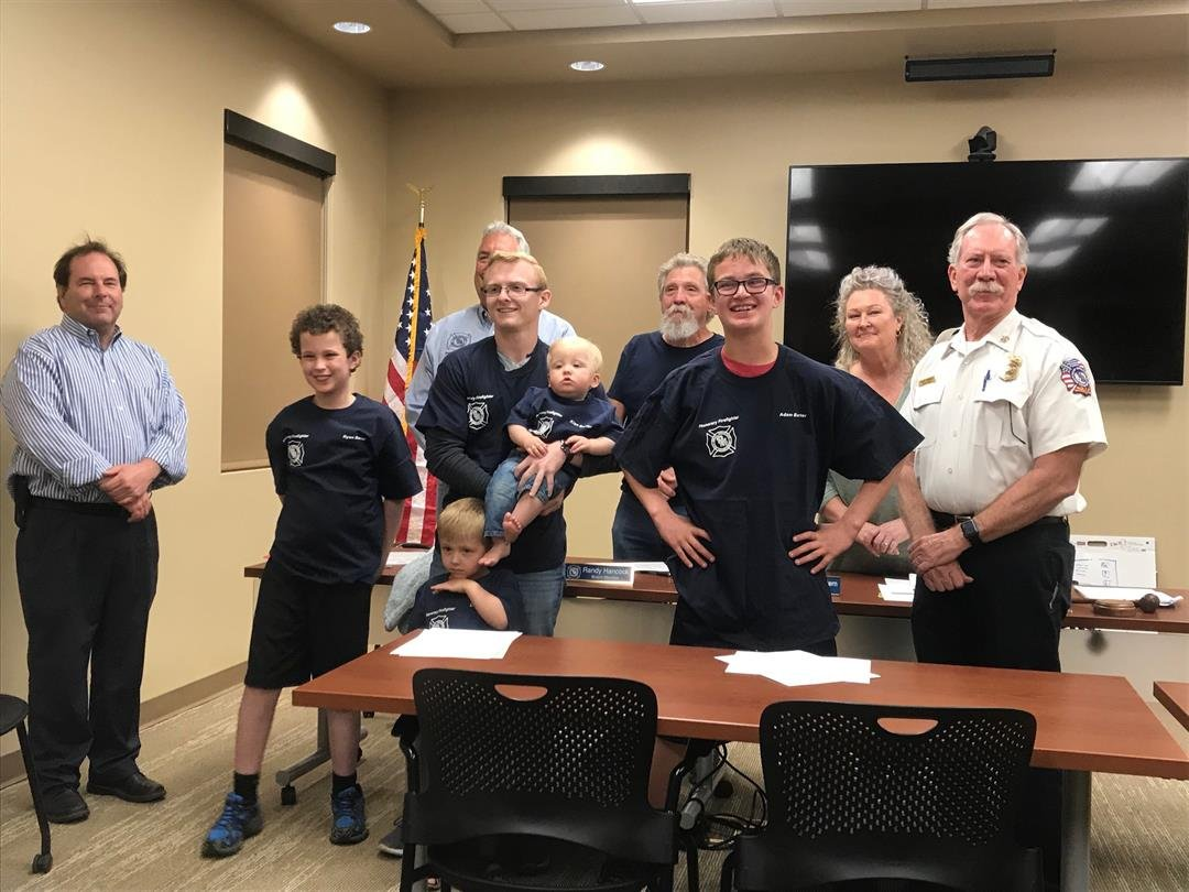 They took the oath of firefighters and were given certificates and t-shirts. (Source: Carrie Barter)