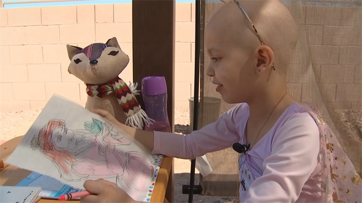 Zaliyah, 6, was diagnosed with stage four cancer this year. (Source: 3TV/CBS 5)