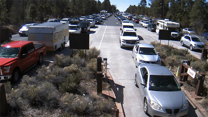 The Grand Canyon is expected to be very crowded for the Easter weekend (Source: National Park Service)