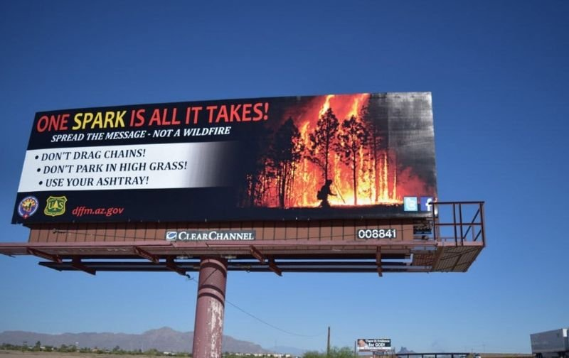 The Department of Forestry and Fire Management has unveiled a new billboard campaign to reinforce fire safety across the state. (Source: Department of Forestry and Fire Management)