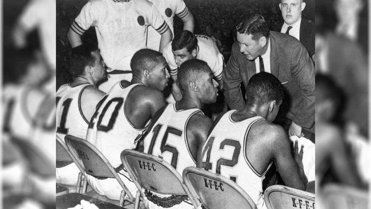 In 1963 Loyola Chicago became the first college basketball team to start four players of color. (Source: The Associated Press)