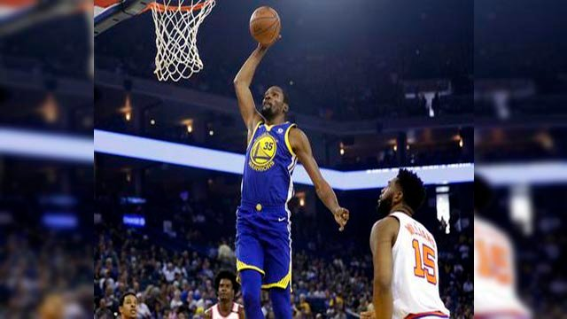 Kevin Durant had 29 points, 11 rebounds and eight assists. (Source: AP Photo)