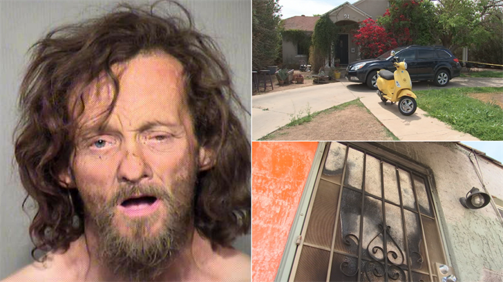 A man is accused of terrorizing a Phoenix neighborhood, starting a fire and killing a man. (Source: 3TV/CBS 5/Maricopa County Sheriff's Office)