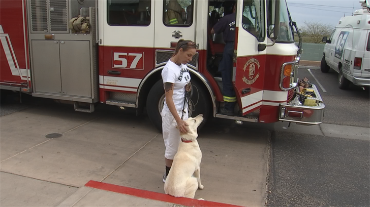 Danielle Trepanier at the Arizona Humane Society Campus for Compassion before the hike. (Source: 3TV/CBS 5)