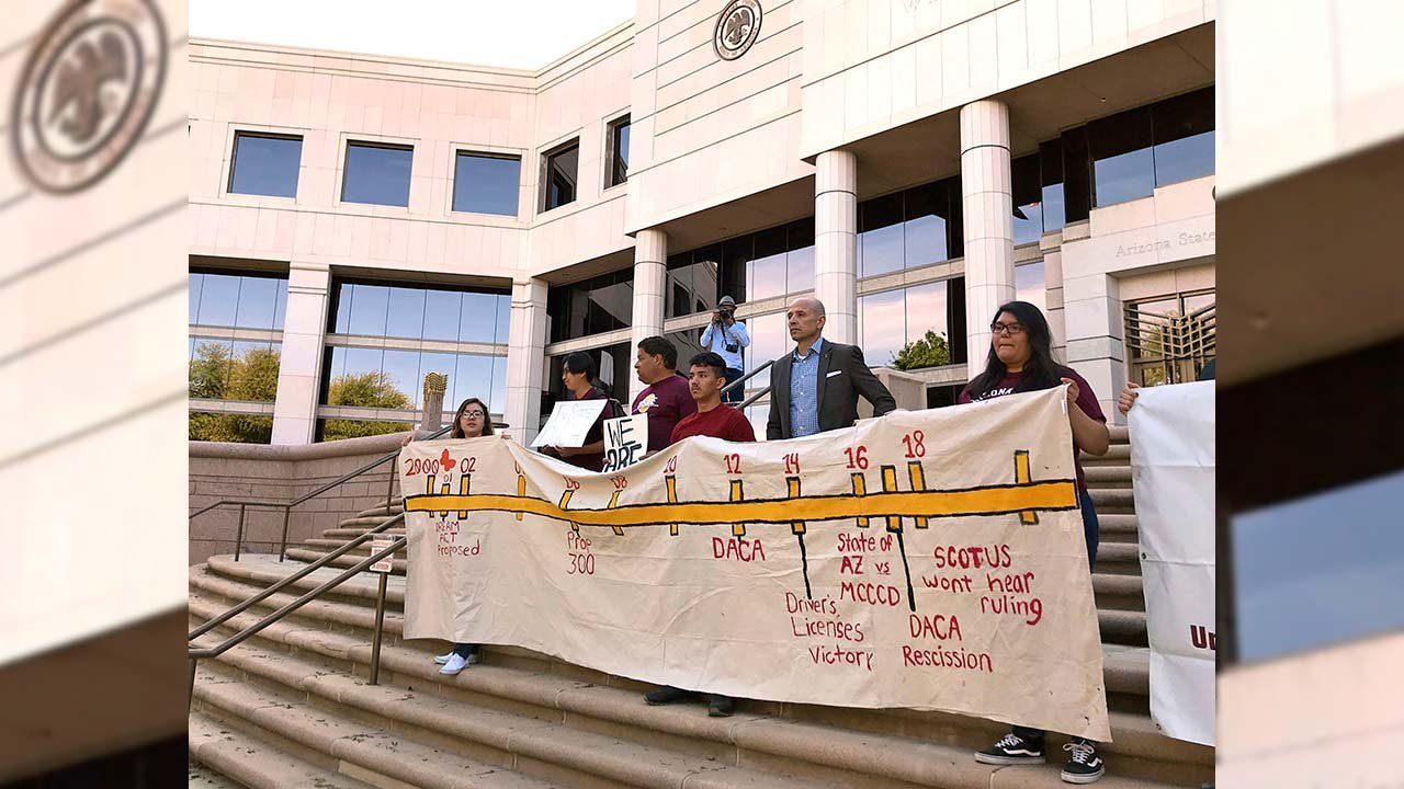 The Court said Monday that before colleges send out tuition letters for the next semester it will rule on whether immigrant students with deferred deportation status can continue to benefit from lower in-state school costs. (Source: AP Photo/Anita Snow)