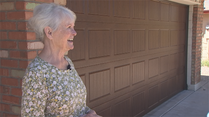 Ronna Haak got a new garage door thanks to 3 On Your Side and A1 Garage Door Service. (Source: 3TV)