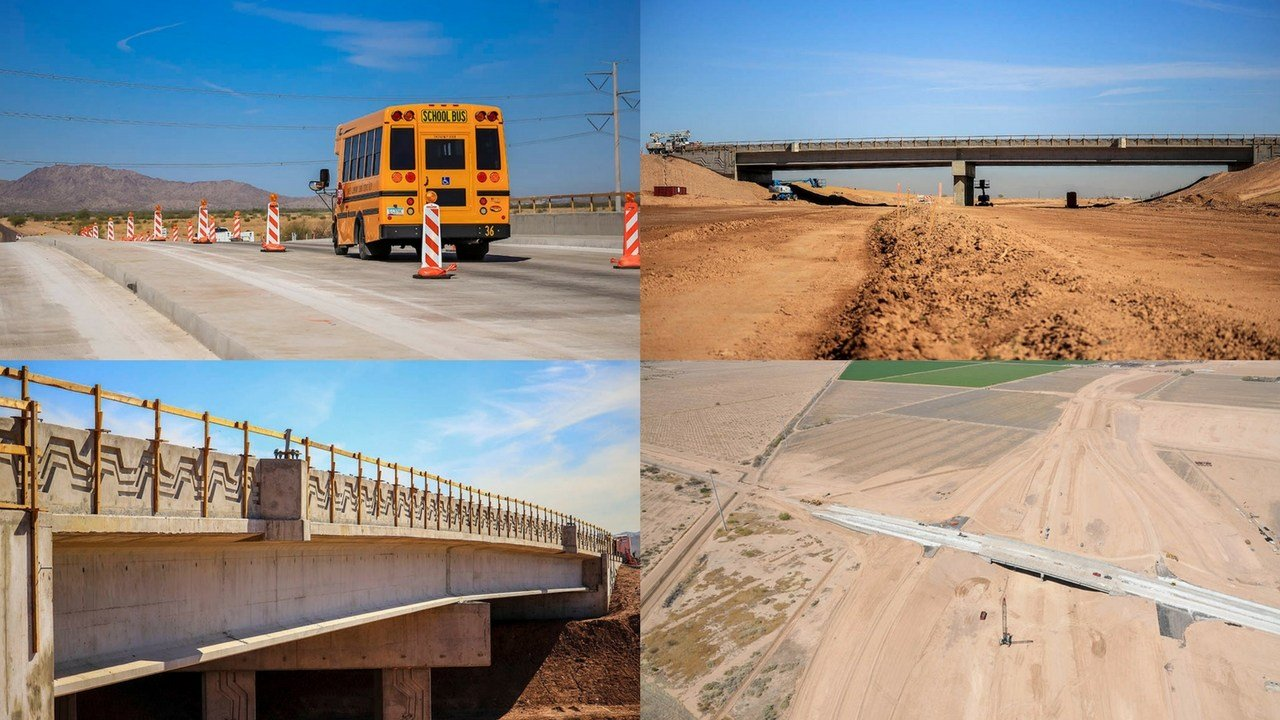 Laveen drivers are now the first to drive on a part of the South Mountain Freeway, considered a milestone for the Arizona Department of Transportation's Loop 202 South Mountain Freeway project. (Source: ADOT)