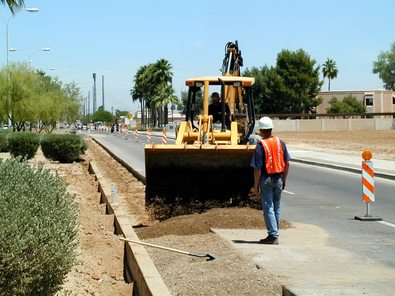 The City of Chandler said drivers speeding through these sections of construction not only puts the workers' lives at risk, but their own as well by possibly hitting barricades, or lifting steel plates that cover deep trenches. (Source: City of Chandler)