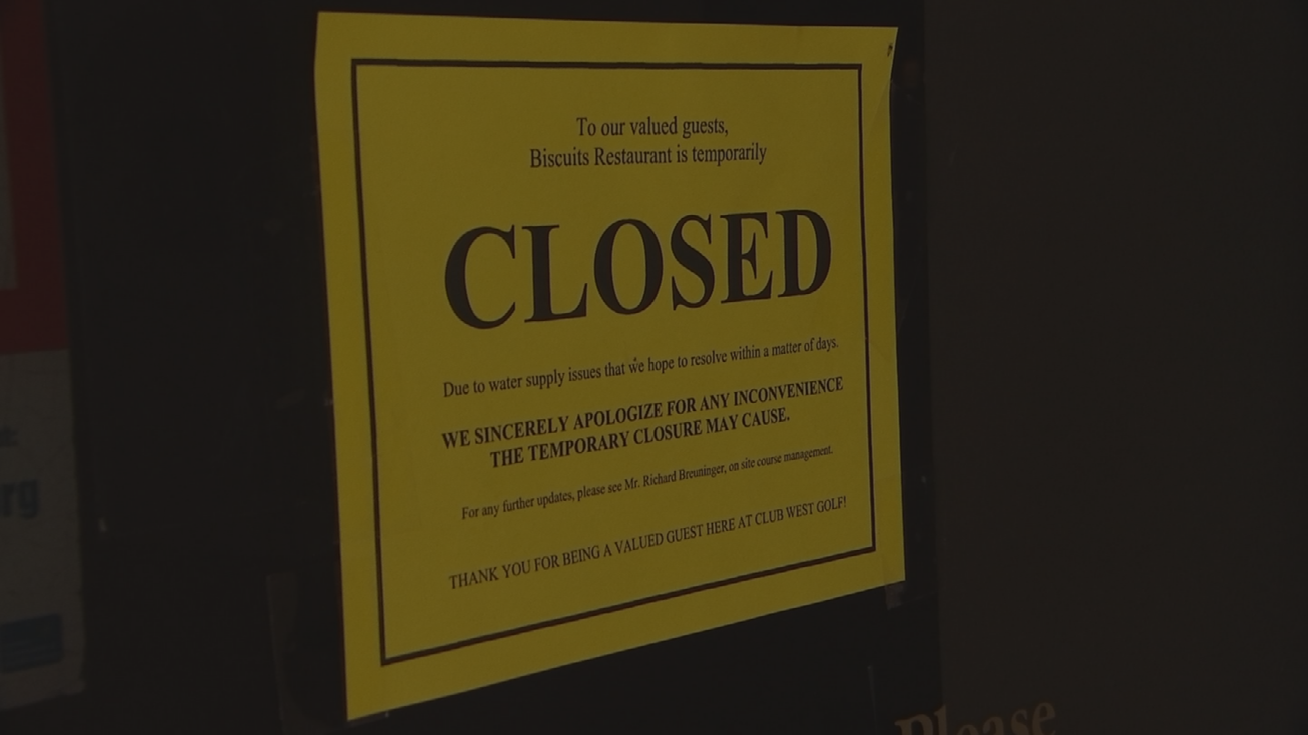 The golf course manager said they are still open for business, and they have a dozen golfers every day. (Source: 3TV/CBS 5)