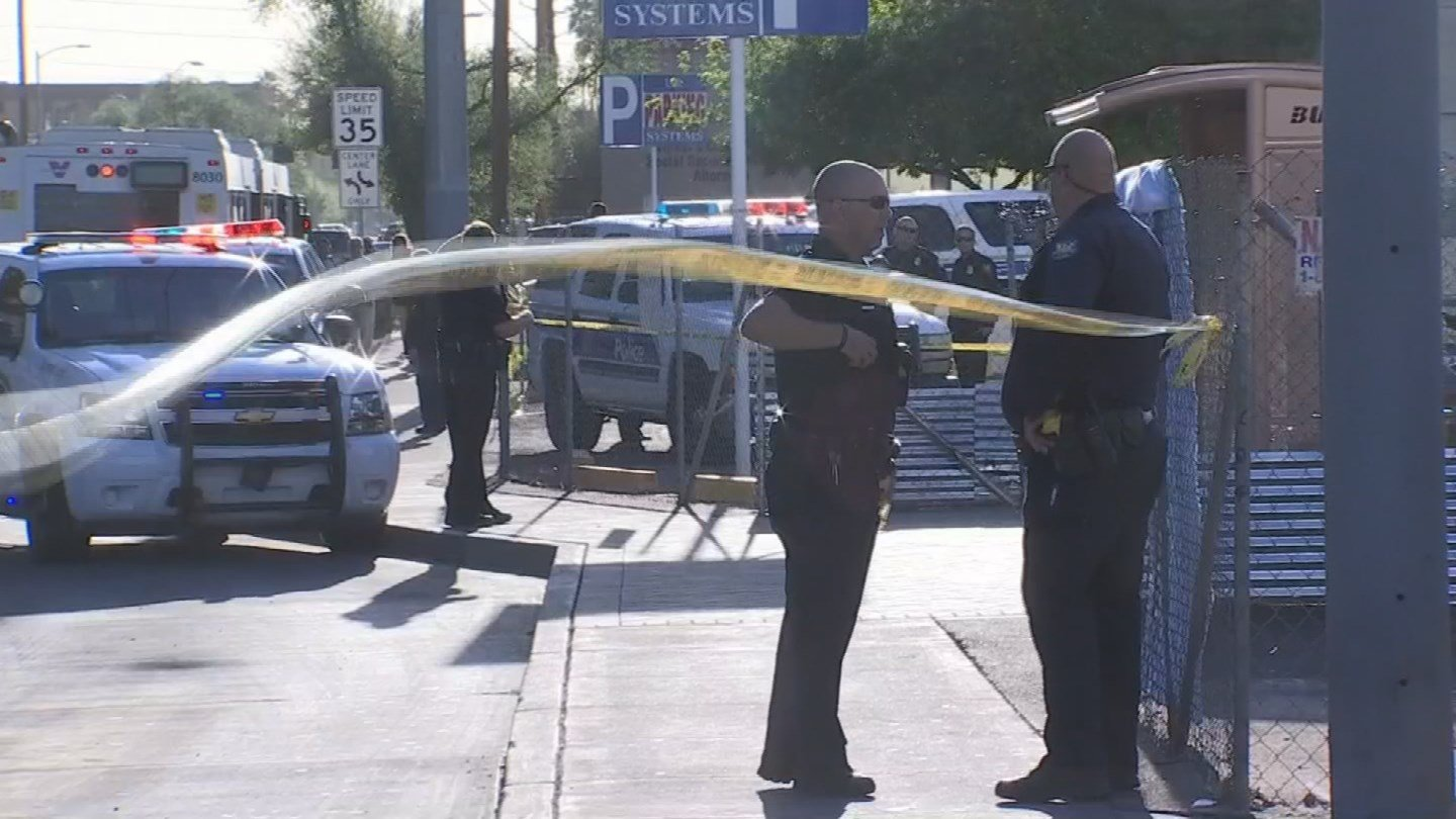 The incident did impeded access to a city bus stop. (Source: 3TV/CBS 5)