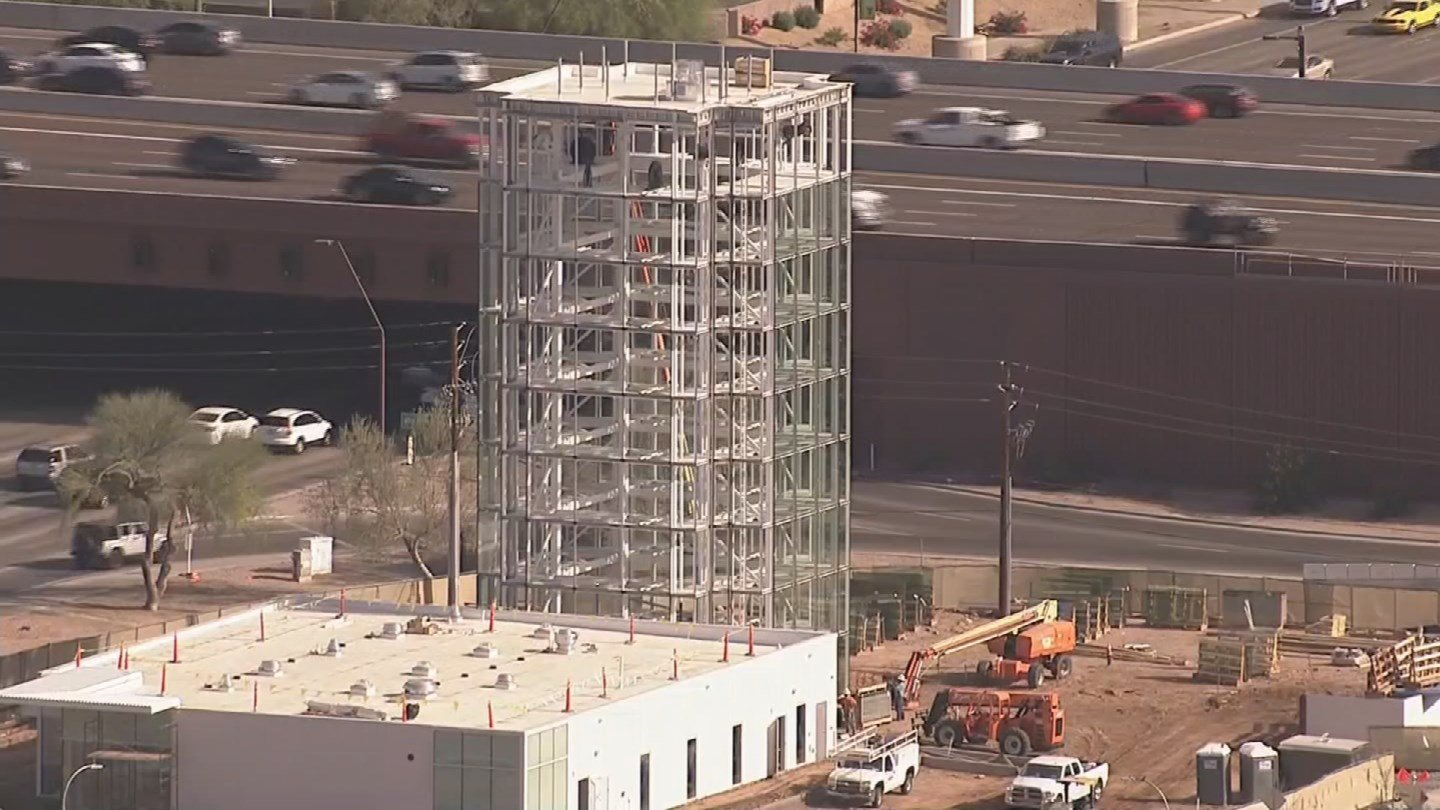 Construction was underway in April near Loop 202 and Scottsdale Road (Source: 3TV/CBS 5)