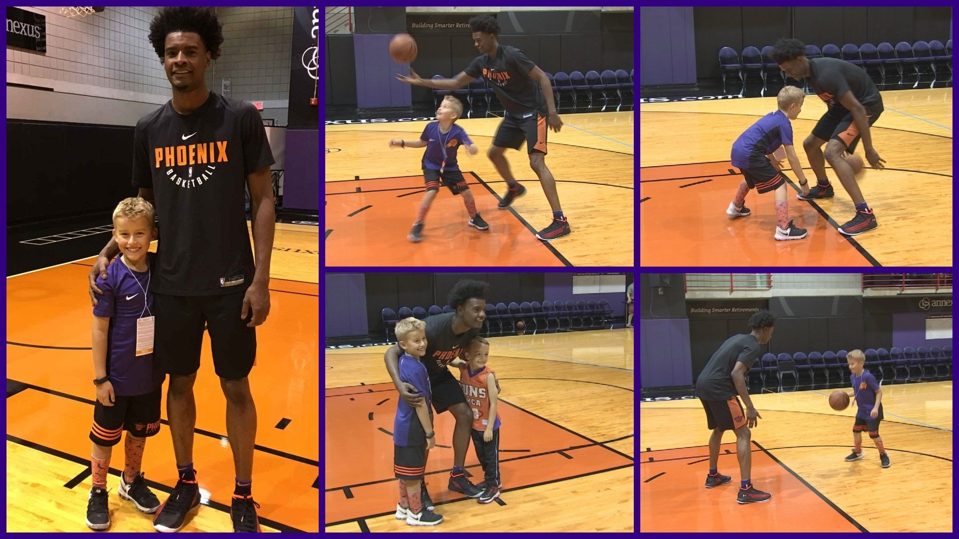 Phoenix Suns rookie Josh Jackson and third-grader Luke Feiler of Scottsdale (Source: 3TV/CBS 5)