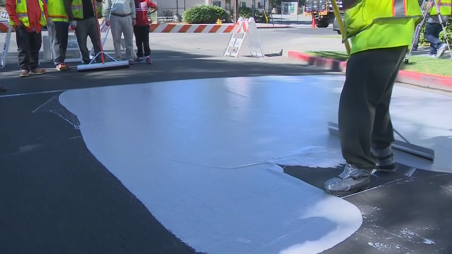 Researchers are looking into whether painting streets off-white would be a good idea. (Source: 3TV/CBS 5)