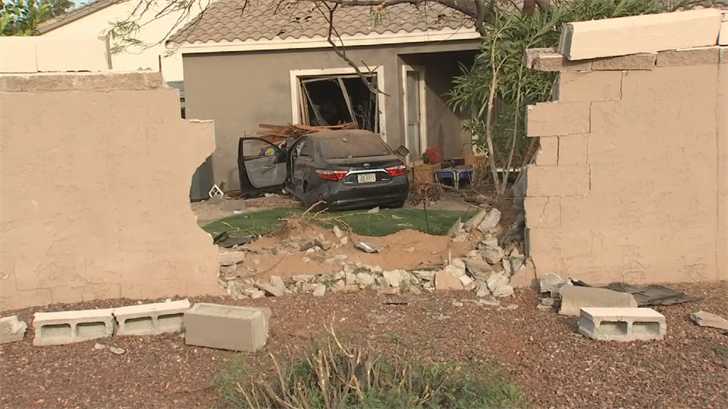 The driver was the only one hurt. (Source: 3TV/CBS 5)
