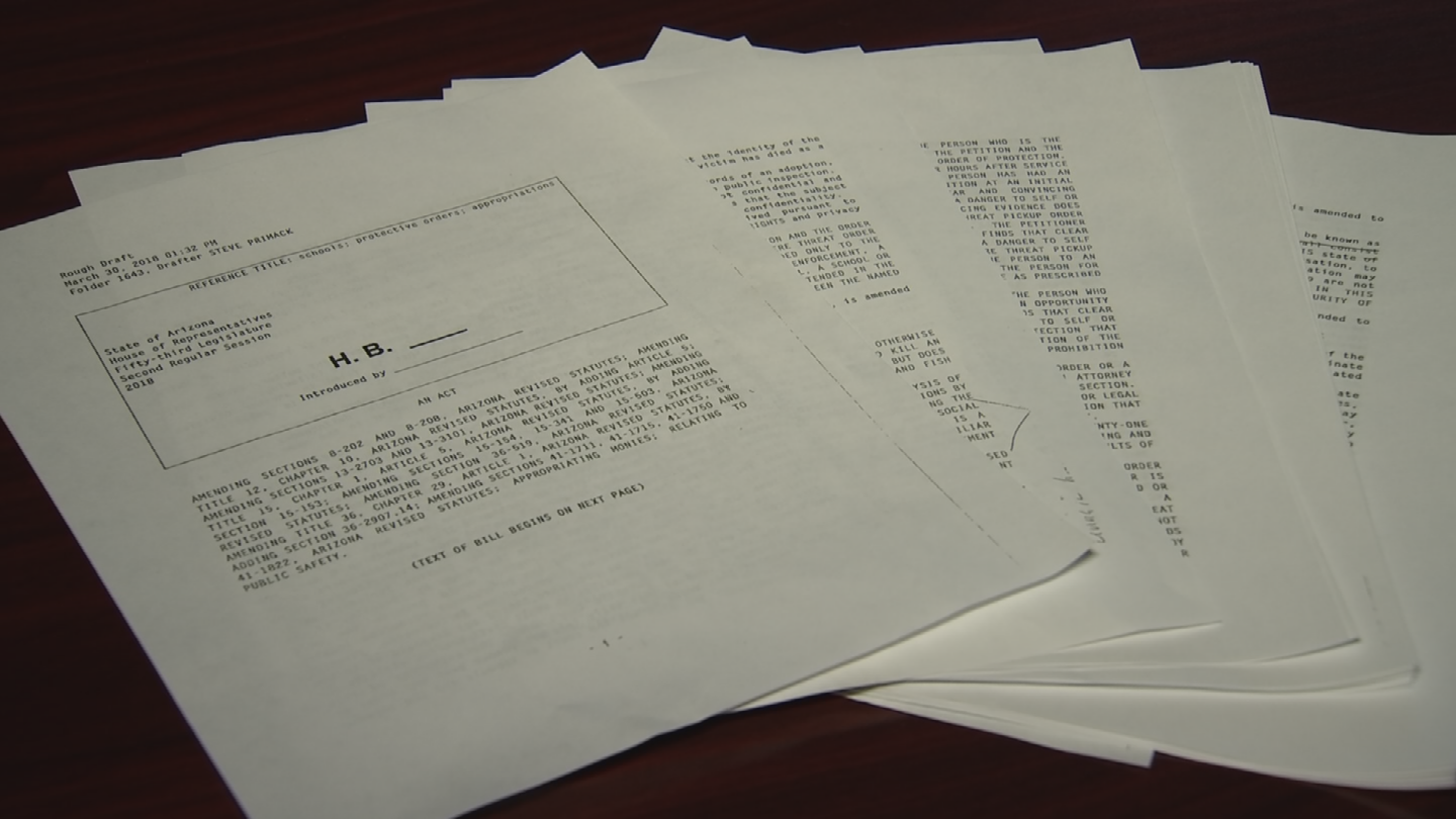A draft proposal of Ducey's school safety plan was obtained Tuesday. (Source: 3TV/CBS 5)