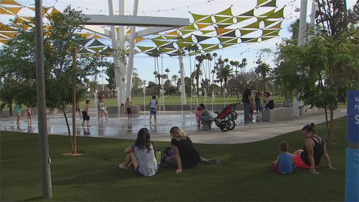 Another major highlight of the redesign is the kids' splash pad. (Source: 3TV/CBS 5)