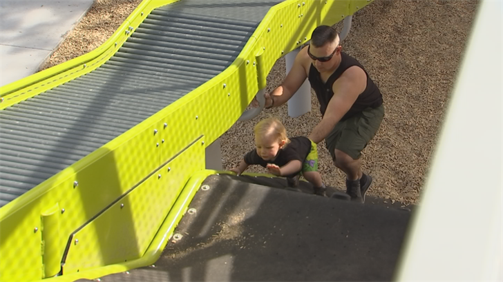 It took about a year to construct the playground. (Source: 3TV/CBS 5)