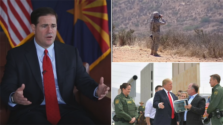 Gov. Doug Ducey said he supports Trump's plan to bring the National Guard to the border. (Source: 3TV/CBS 5/CNN)