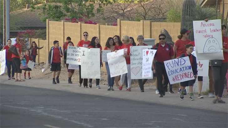 Even with peaceful demonstrations, little has change for Arizona teachers. (Source: 3TV/CBS 5)