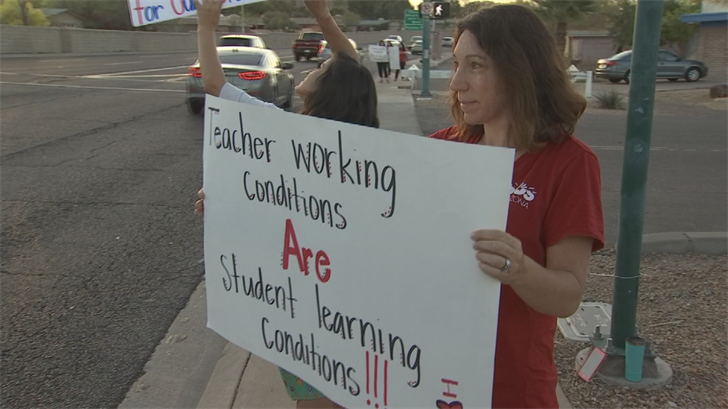 Teachers are calling for a 20 percent increase in paybecause Arizona is currently ranked one of the lowest in the country for teacher income. (Source: 3TV/CBS 5)