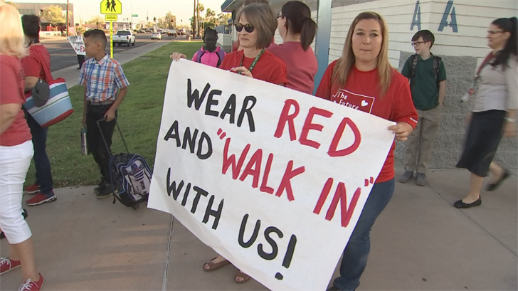 Protest organizers said a strike is still on the table. (Source: 3TV/CBS 5)