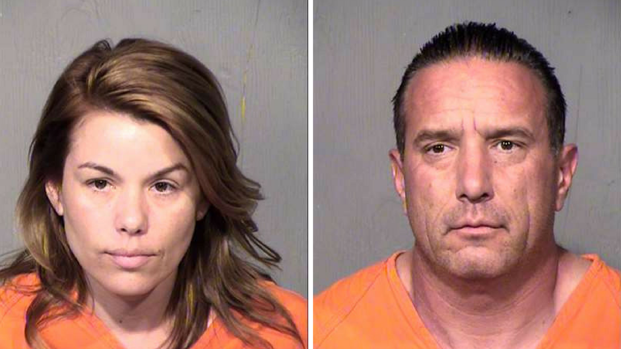 Autumn Maya (left) and Michael Maya, arrested for theft of money and firearms from the Arizona Department of Economic Security. (Source: Maricopa County Sheriff's Office)
