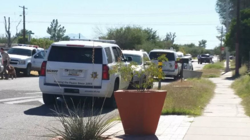 Authorities searched a property in the 4500 Block of South Liberty Avenue in Tucson Thursday. The search is connected to a $2.8 million dollar money laundering, drug trafficking and fraud of state benefits case. (Source: Tucson News Now)