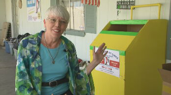 Donna Parks donates shoes people in need at local shelters and rescue missions. (Source: 3TV/CBS 5)