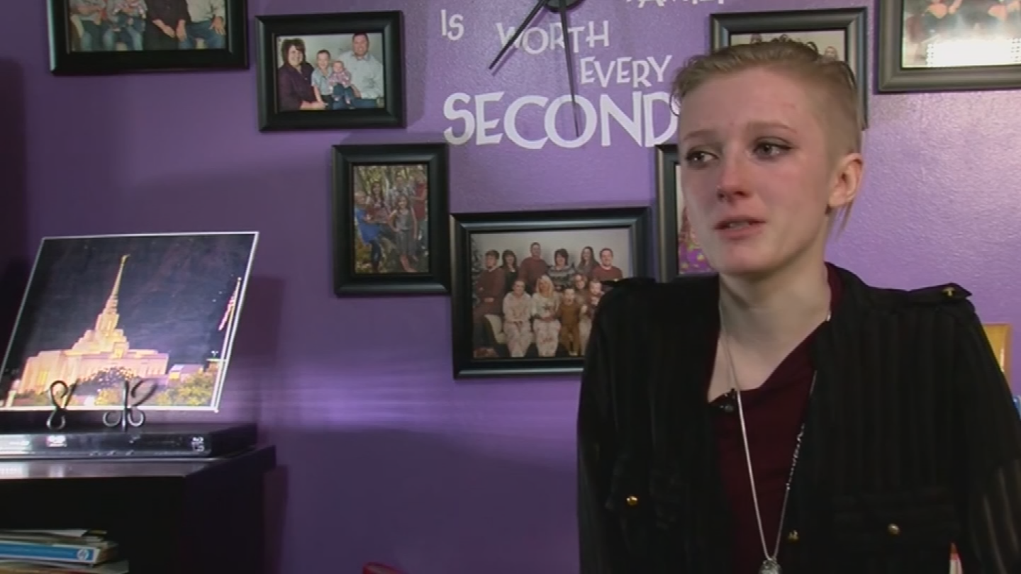 Kiara Holm spoke about the horrific crime that happened to her. (Source: KTVX/CNN)
