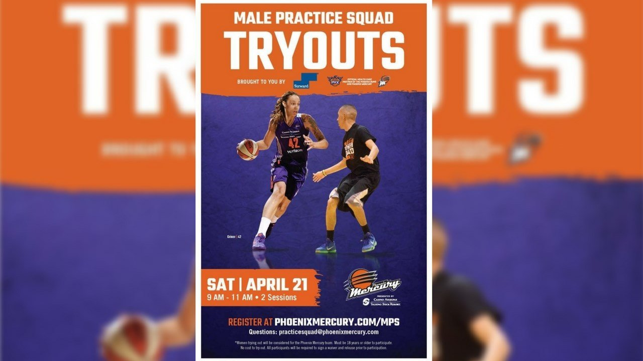 The Phoenix Mercury are looking for 10 to 15 players who will get the opportunity to play against Diana Taurasi and Britney Griner. (Source: Phoenix Mercury)