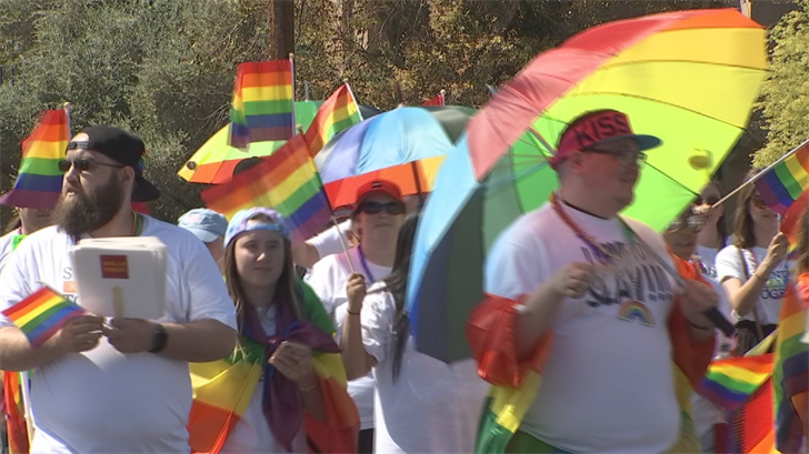 Music, sunshine and smiling faces lined Phoenix streets Sunday for the 2018 Pride Parade. (Source: 3TV/CBS 5)