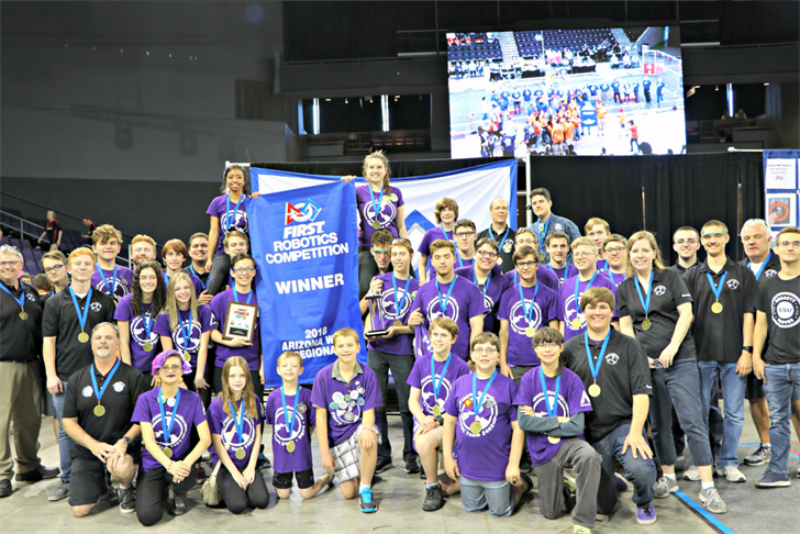 Plasma Robotics won the Arizona West Regional competition. (Source: twitter.com/PlasmaRobotics)